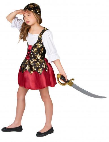 Déguisement pirate motifs dorés fille-1