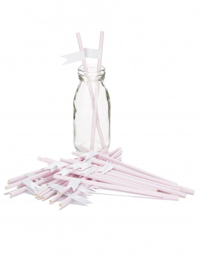 24 Pailles boudoirs roses personnalisables-1
