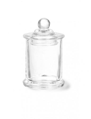 Petite bonbonnière confiseur en verre 9 x 6 cm