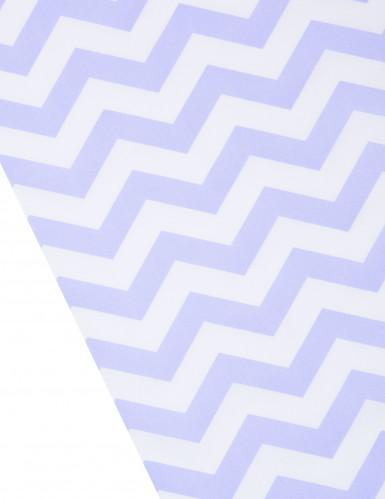 Chemin de table tissu chevron lavande et blanc-1