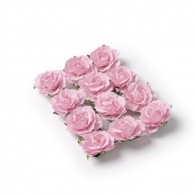 12 Roses à piquer rose