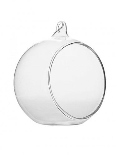 Boule en verre ouverte à poser ou à suspendre 6 cm