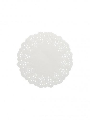 10 Petits napperons en papier dentelle 11.5 cm