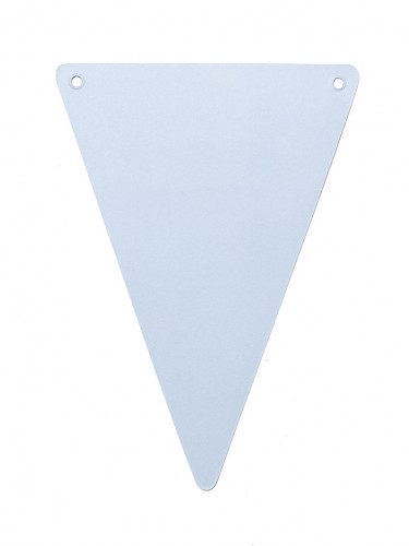 5 Fanions DIY bleu ciel en carton