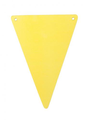 5 Fanions DIY jaune en carton