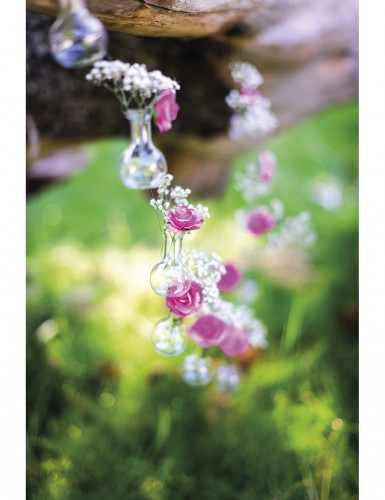 Mini fiole verre ronde à suspendre 2.5 x 6 x 7.5 cm-1