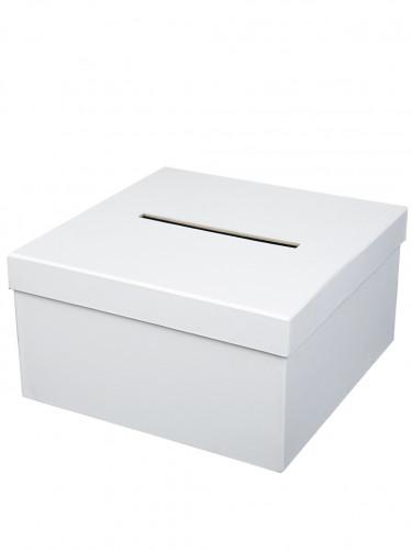 Urne cartonnée carrée blanche 25 x 14 cm