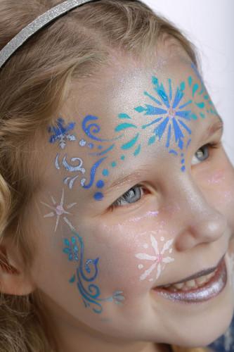 Pochoir de maquillage réutilisable princesse des neiges Grim'Tout®-3