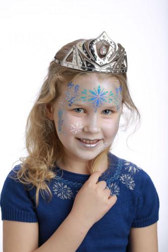 Pochoir de maquillage réutilisable princesse des neiges Grim'Tout®-1