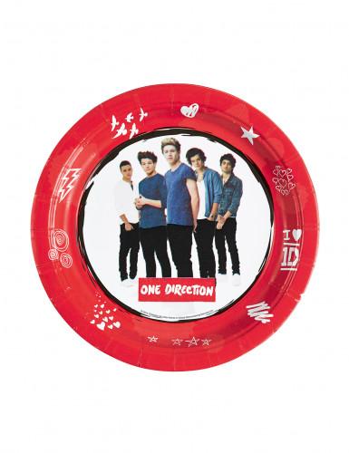 8 Petites assiettes en carton One Direction ™ 18 cm