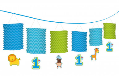 Guirlande lanternes 1 an garçon