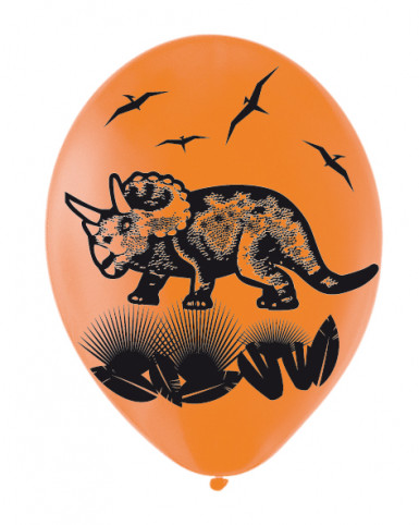 6 Ballons Dino Party