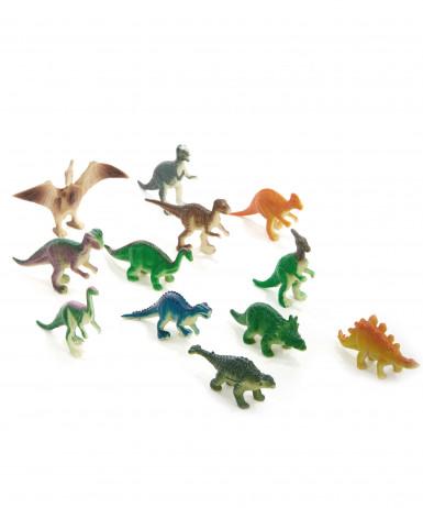 12 figurines dinosaure