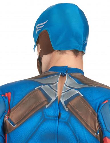 Casque en tissu Captain America™ adulte-1