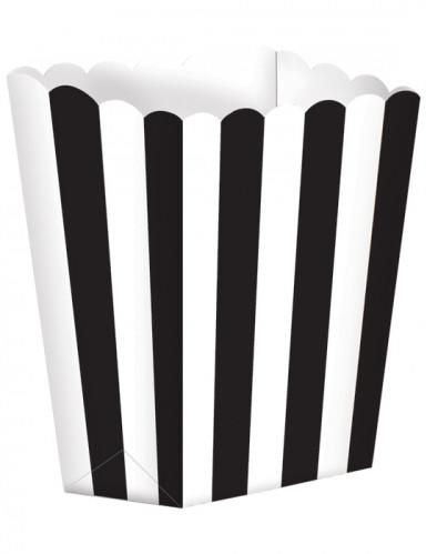 5 Pots à Popcorn Noir & Blanc