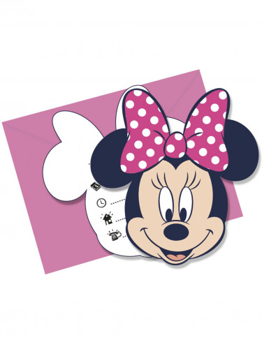 6 Cartes invitations + enveloppes Minnie ™