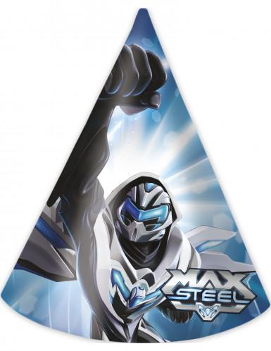 6 Chapeaux en carton Max Steel ™