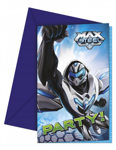 6 Cartes invitations Max Steel ™