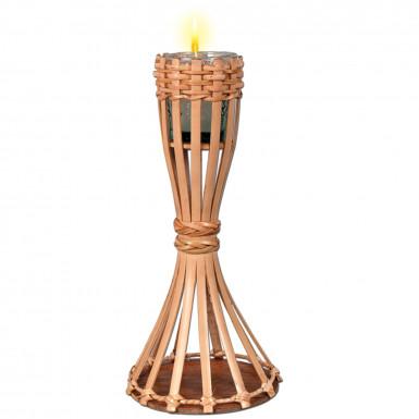 Décoration de table torche en bambou 28 cm