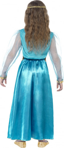Déguisement princesse médiévale bleue-2