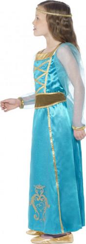 Déguisement princesse médiévale bleue-1
