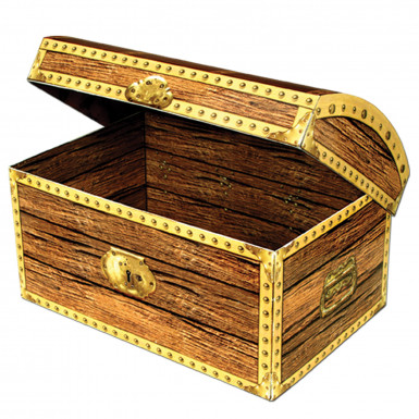 Coffre aux trésors en carton Pirate