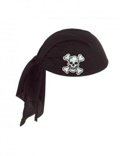 Chapeau bandana noir pirate adulte
