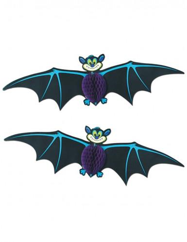 2 Décorations à suspendre chauve-souris Halloween
