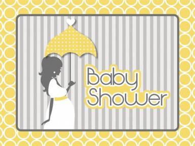 8 Cartes d'invitation Baby shower fashion