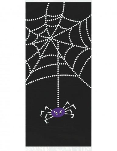 20 Sachets plastique Toile d'araignée Halloween 28 x 13 cm