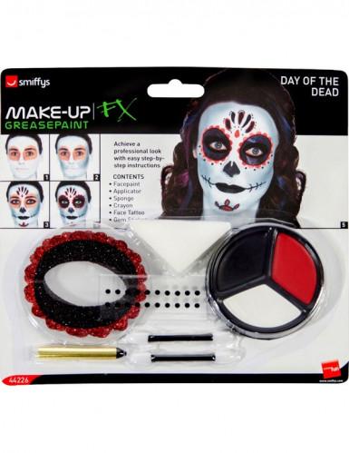 Kit maquillage squelette coloré adulte-1
