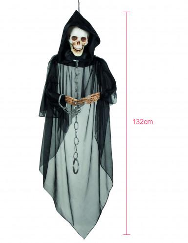 Décoration à suspendre squelette enchainé Halloween-1