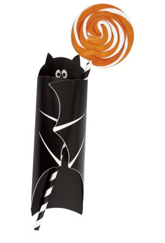 8 Pochettes pour couverts Chauve-souris Halloween-2