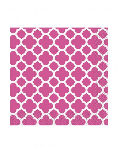 16 Petites Serviettes en papier Grafik Rose 25 x 25 cm