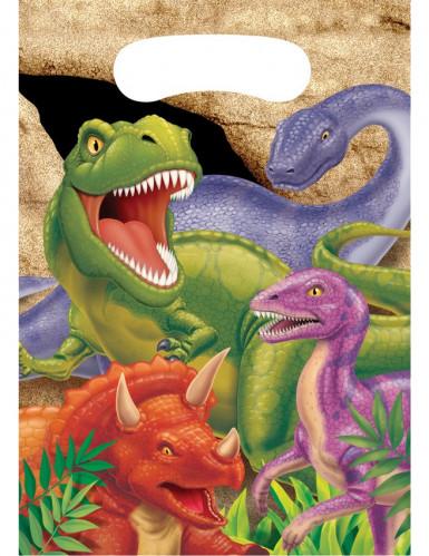 8 Sacs cadeaux anniversaire Dinosaures