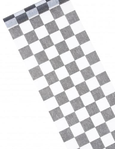 Chemin de table intissé damier 27 cm x 5 m