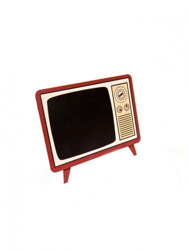 Menu ardoise Poste télé vintage 16 x 12 cm