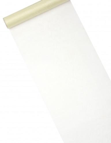 Chemin de table en organza brillant ivoire 28 cm x 5 m