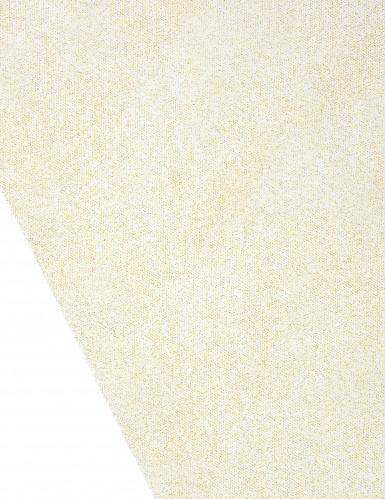 Chemin de table tulle doré à paillettes 29 cm x 5 m-1