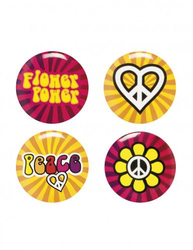 4 Pins Hippie Flower Power