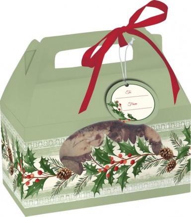 Boîtes à bonbons vertes houx de Noël