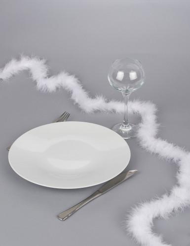 Guirlande de table en plume blanche 1,8 m-1