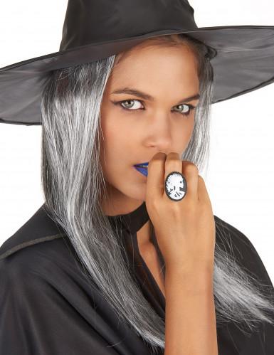 Bague squelette gothique femme Halloween-1