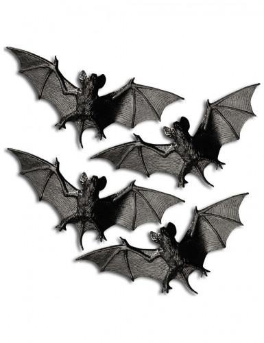 4 Chauves-souris Halloween 11 cm