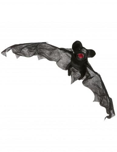 Décoration chauve-souris animée, lumineuse et sonore Halloween 80 cm