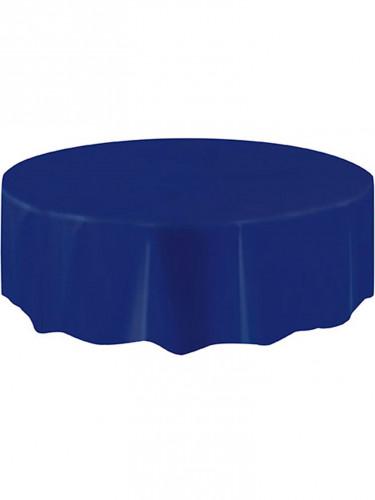 nappe ronde en plastique bleu marine 213 cm d coration anniversaire et f tes th me sur vegaoo. Black Bedroom Furniture Sets. Home Design Ideas