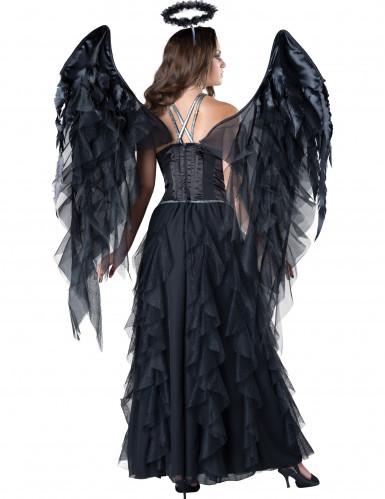 Déguisement Ange Noir pour femme - Premium-1