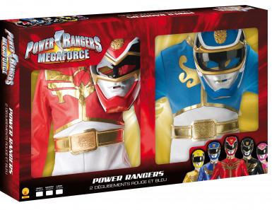 Pack déguisements Power Rangers™ rouge et bleu enfant Coffret -1