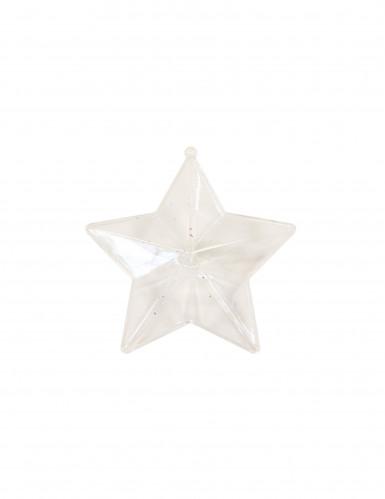 Boîte étoile transparente 10.5 cm