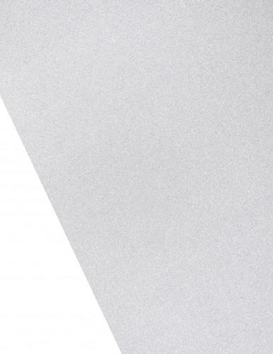 Chemin de table argenté à paillettes 28 cm x 5 m-1